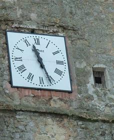 Détail de l'horloge de l'église