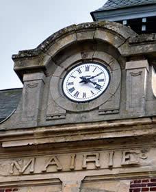 Cadran de l'horloge de la mairie