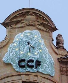 Horloge de l'ancien siège du Crédit Commercial Français