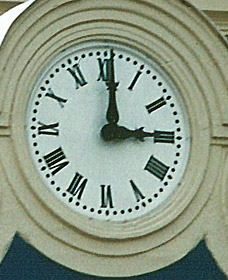Détail de l'horloge de la gare de la Muette