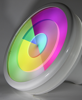 horloge multi-color huchez pour Bettina Dadon