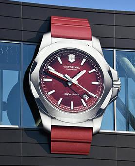 Horloge en forme de montre rouge