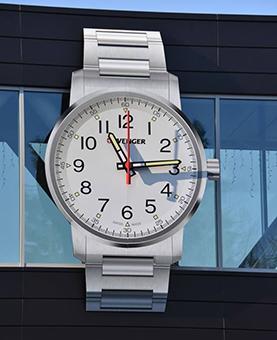Horloge en forme de montre blanche