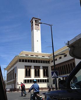 Cadran au sommet de la préfecture de Casablanca