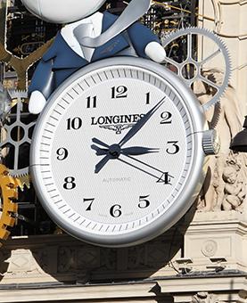 Horloge Longines de la façade du Printemps