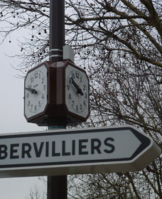 Affichage multi-directionnel de l'horloge