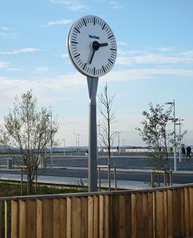 Inauguration d'une horloge à Belfort