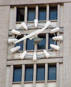 Détail du cadran de la mairie du Havre