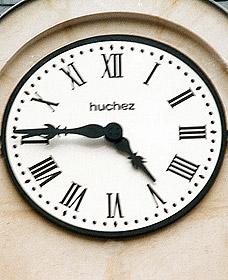 Détail de l'horloge