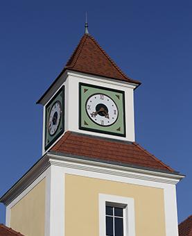 Horloge monumentale du zac de théâtre à Puteaux