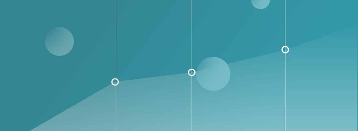 fond bleu avec courbe de graphique