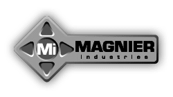 Logo monochrome entreprise Magnier industries