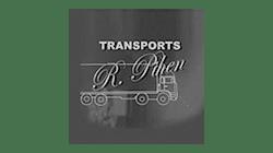 Logo blanc et gris Transports Pihen