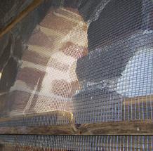 Photo d''une grille anti-pigeon pour un clocher