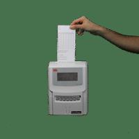 Pointeuse à fiche cartonnée