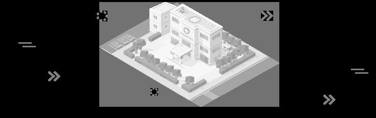 schéma d'un hôpital