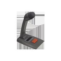 microphone noir avec un bouton rouge